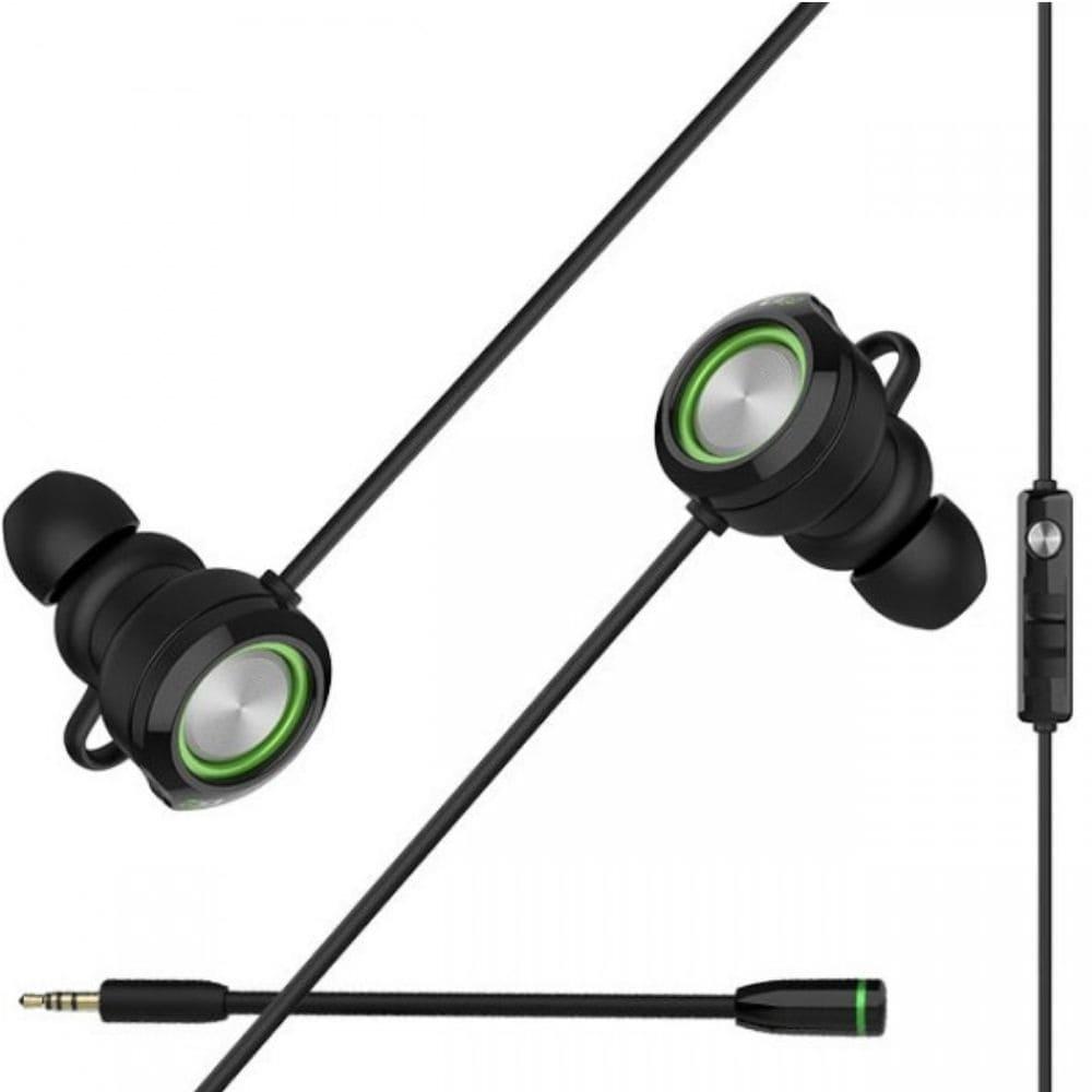 Fone de Ouvido Gamer Edifier GM3 Headset In-Ear c/microfone preto/verde