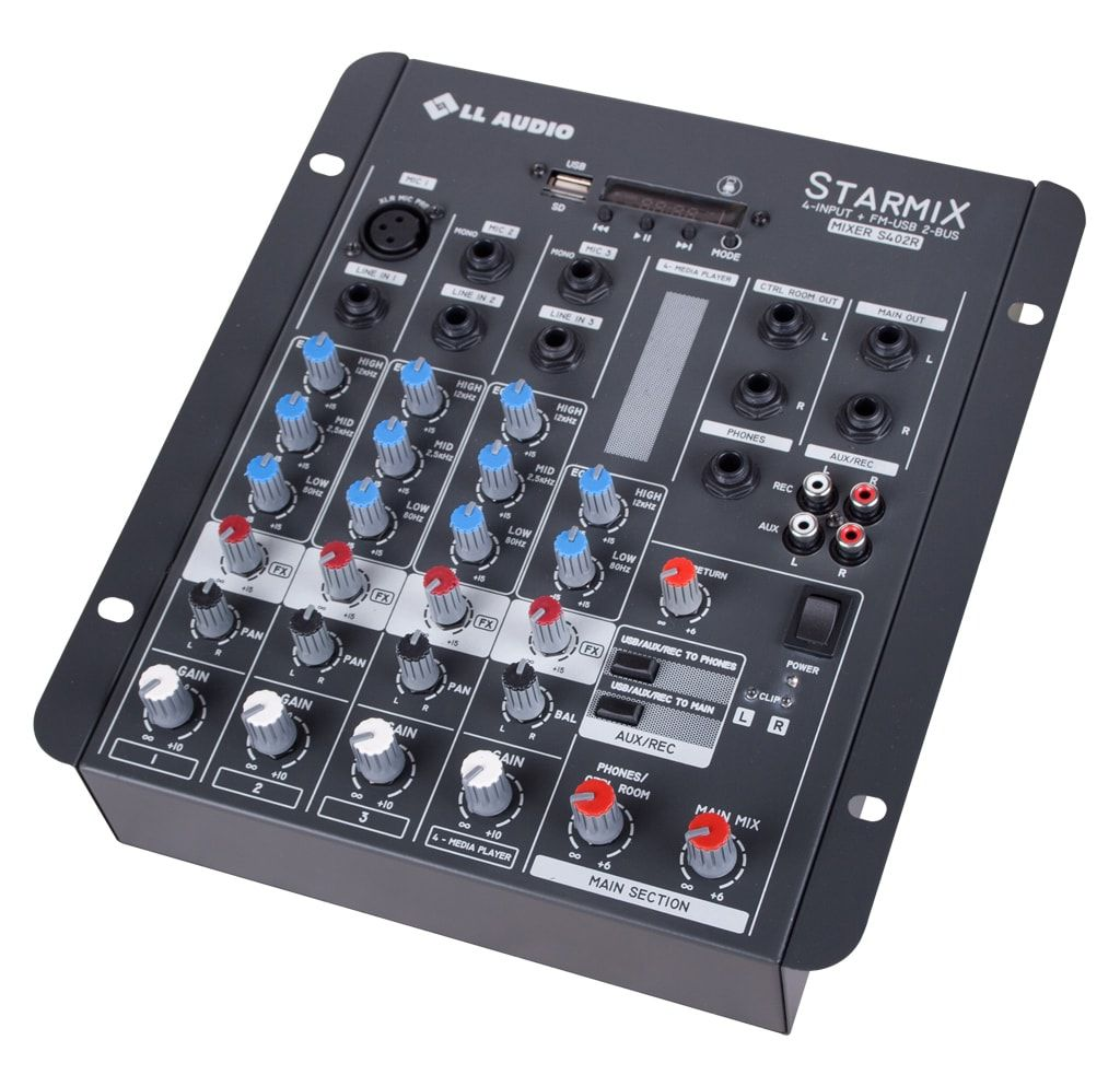 Mesa De Som Mixer Starmix S402rbt Usb Bluetooth 04 canais