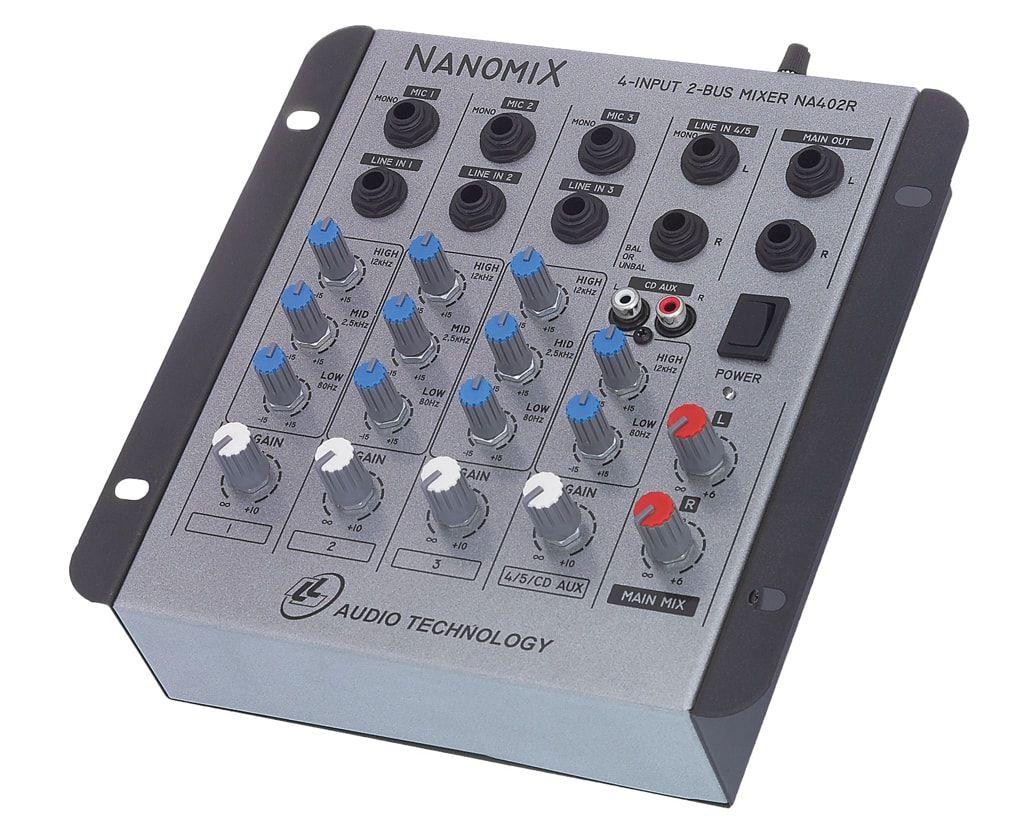 Mesa Som Mixer Nanomix Na 402r Nca 4 Canais