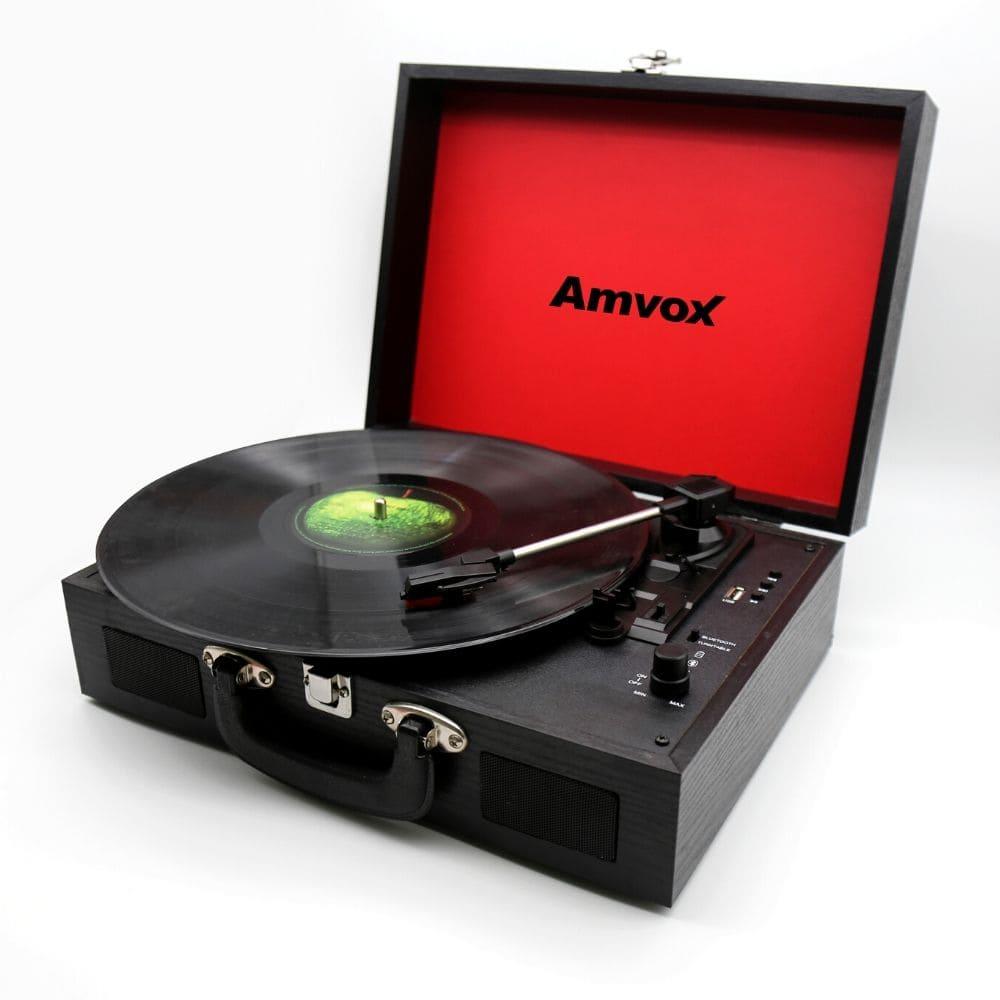 Vitrola Amvox Case em Madeira USB 15w AVT1199 Preta Bivolt