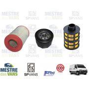 Kit filtros Ar + Óleo + Combustível Ducato / Boxer / Jumper 2.3 Recer
