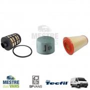 Kit filtros Ar + Óleo + Combustível Ducato / Boxer / Jumper 2.3 Tecfil