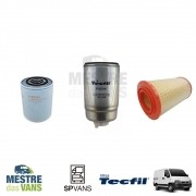 Kit filtros Ar + Óleo + Combustível Ducato / Boxer / Jumper 2.8 .../04 Tecfil/Kopla