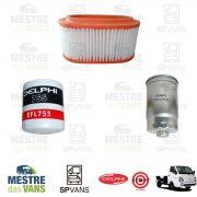 Kit filtros Ar + Óleo + Combustível HR 13/... 16V Delphi