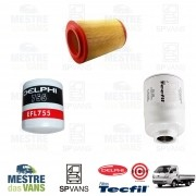 Kit filtros Ar + Óleo + Combustível K2500 .../12 8V Tecfil/Delphi