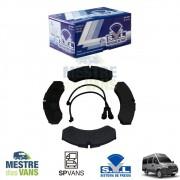 Pastilha de freio dianteira Iveco Daily .../07 / Traseira Iveco Daily 08/... SYL