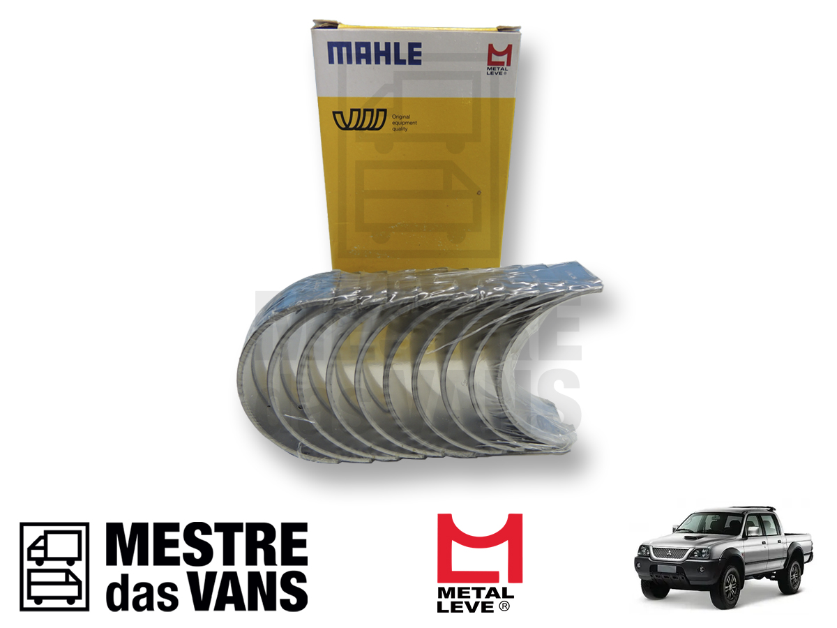 Bronzina Mancal 0.50 Sem Flange L200 Hpe Metal Leve Mahle