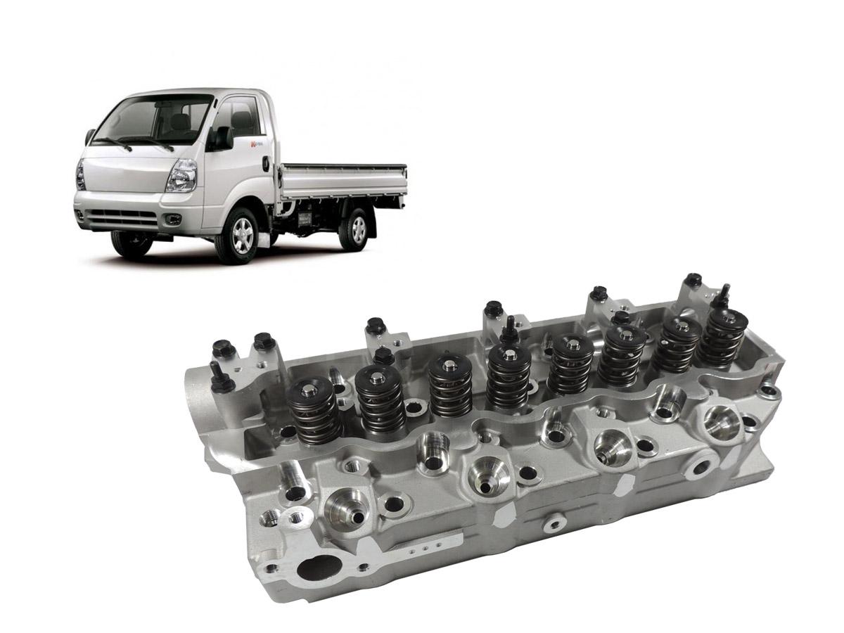 Cabeçote com válvulas Hr / K2500 / L200 2.5 8v Até 2012