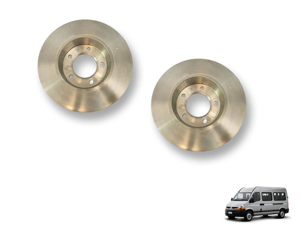 Disco de freio traseiro Renault Master até 2013 Par MDS