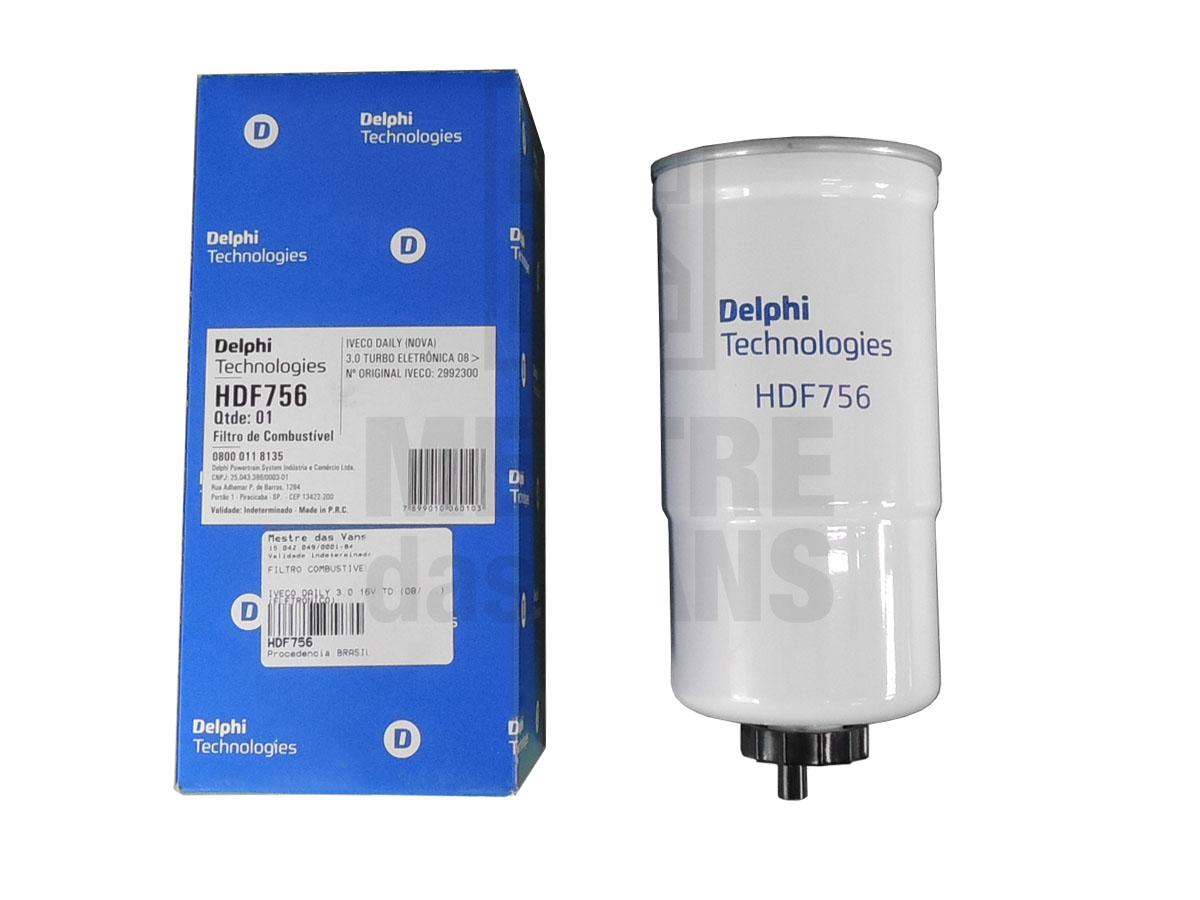 Filtro Combustível Iveco Daily 3.0 16v 2008 em diante Delphi