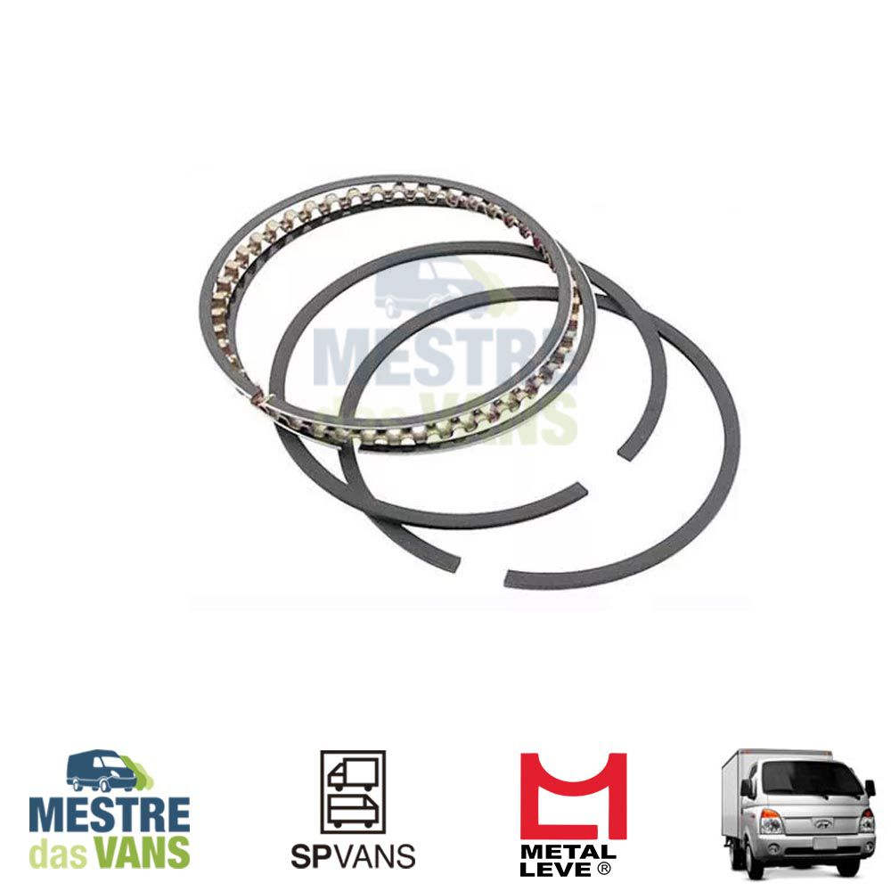 Jogo de Anéis de pistão STD HR 2.5 / K2500 / L200 Metal Leve