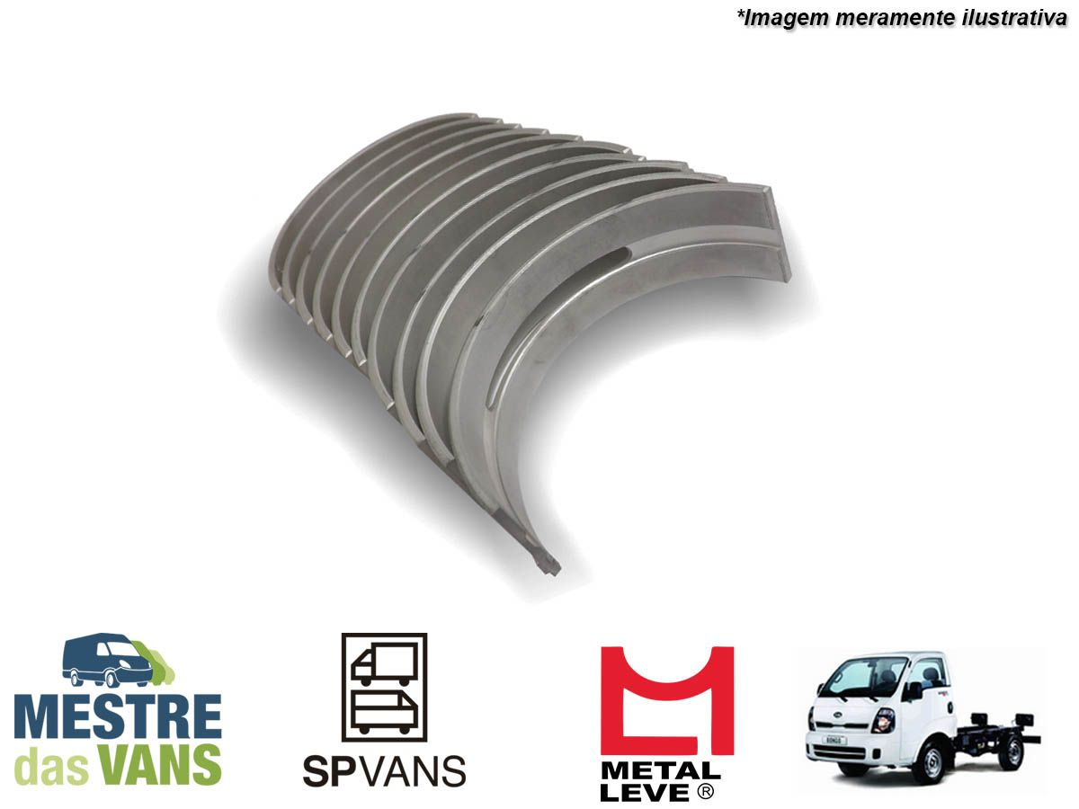 Jogo de Bronzina de mancal 0.25 HR 2.5 / K2500 16V Metal Leve