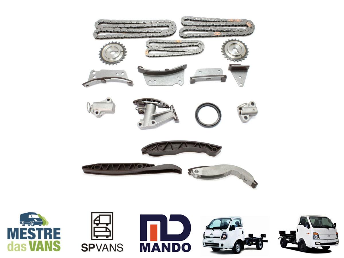 Kit corrente completo com engreanagem HR / K2500 16V Mando