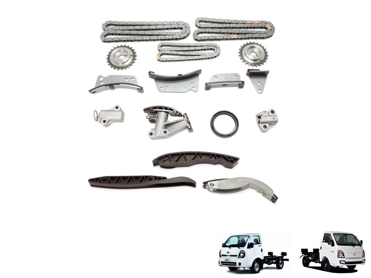 Kit corrente completo com engrenagem HR / K2500 16V Mando
