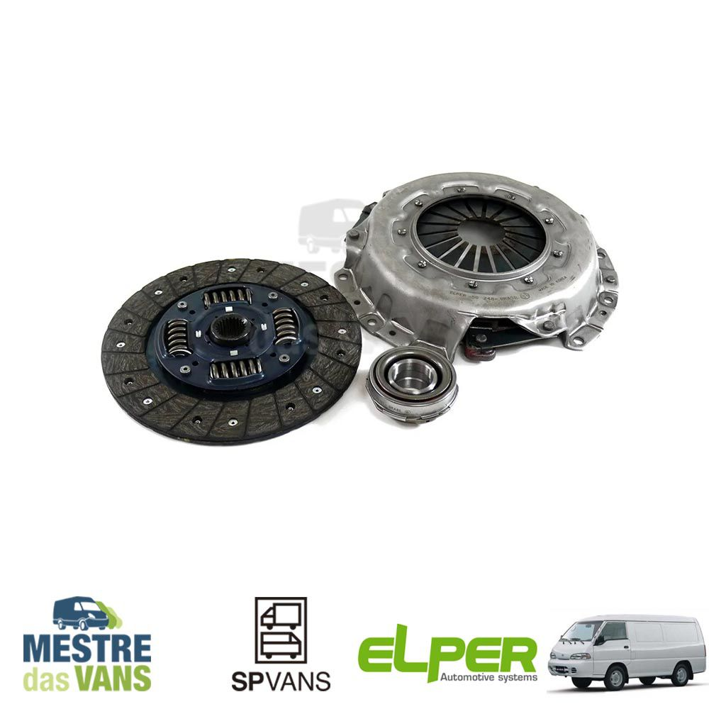 Kit embreagem H100/ L200 / Pajero 2.6L Gasolina Elper (Seco)