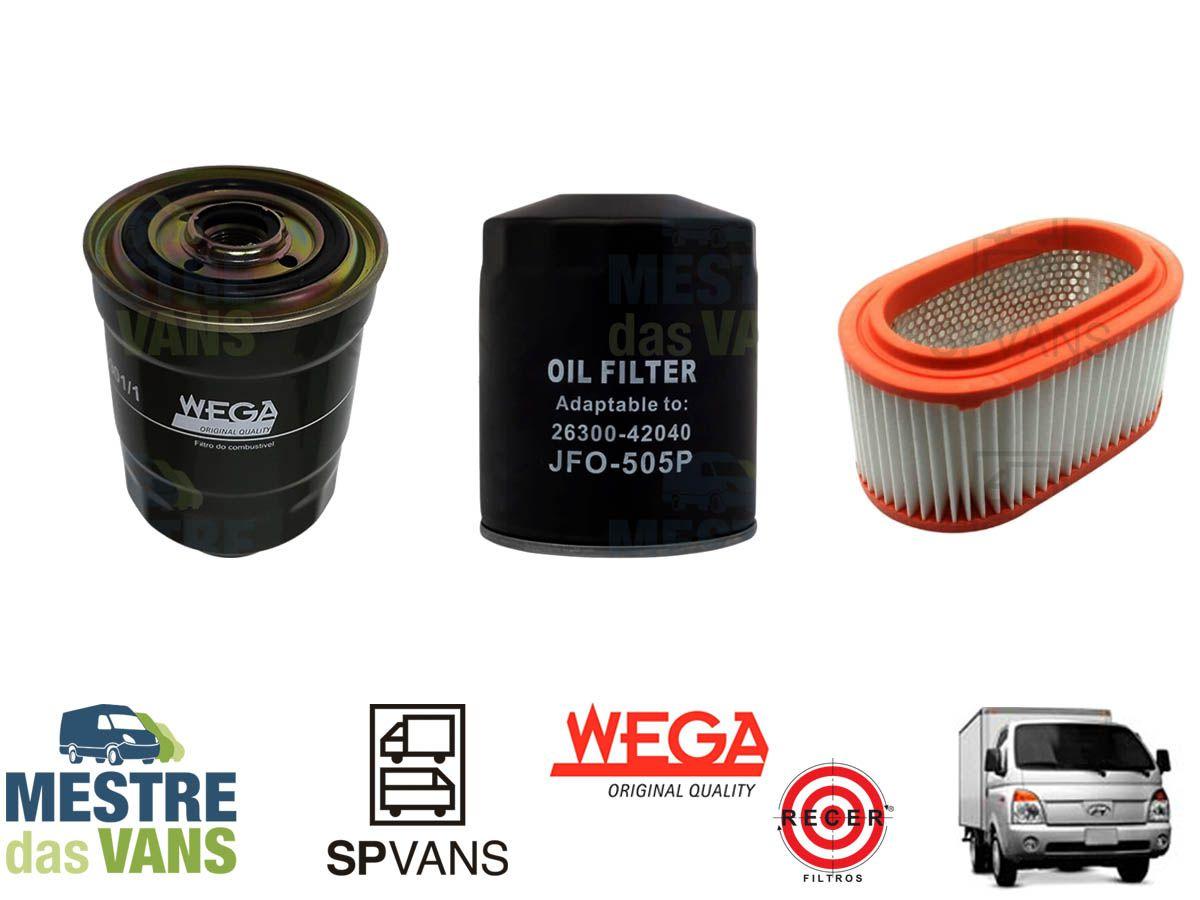 Kit filtros Ar + Óleo + Combustível HR .../12 8V Wega