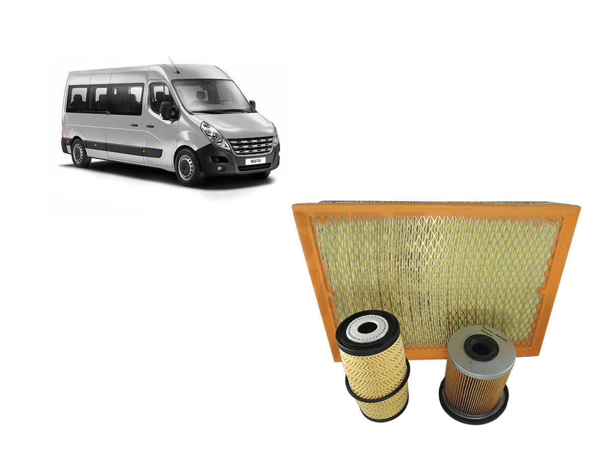 Kit Filtros Ar + Óleo Combustível Master 2.3 2014 em diante