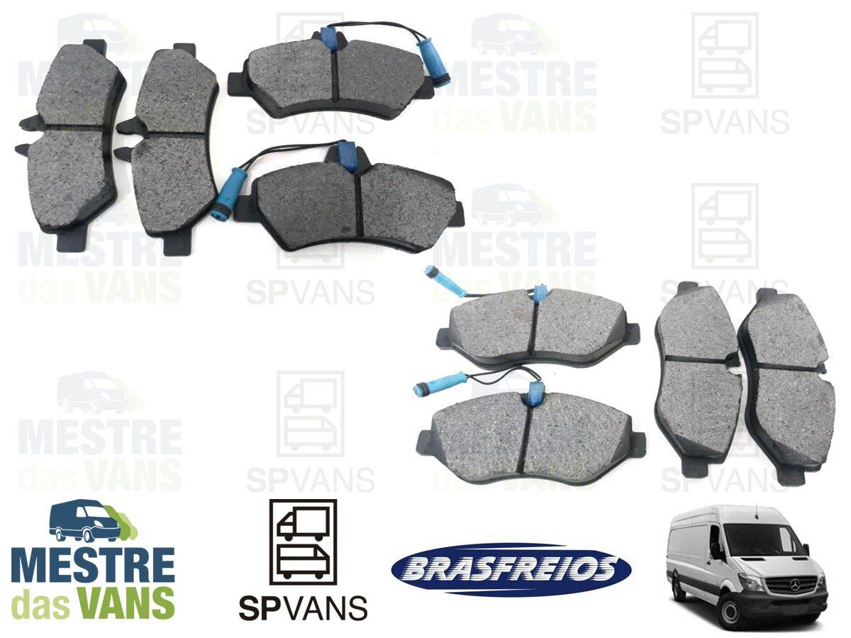 Kit Pastilha de freio dianteira + traseira Sprinter 311/313/415 12/... Brasfreios