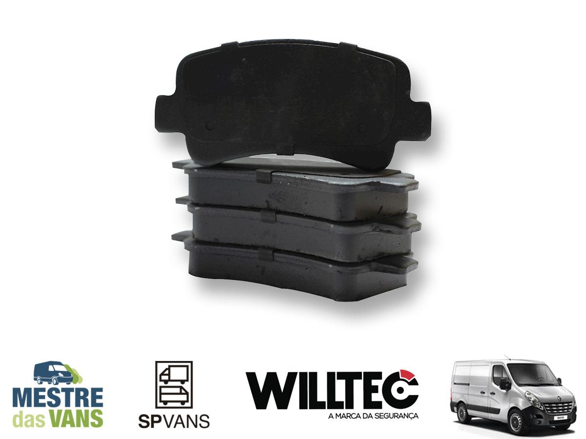 Pastilha de freio cerâmica com sensor Renault Master 14 / ..