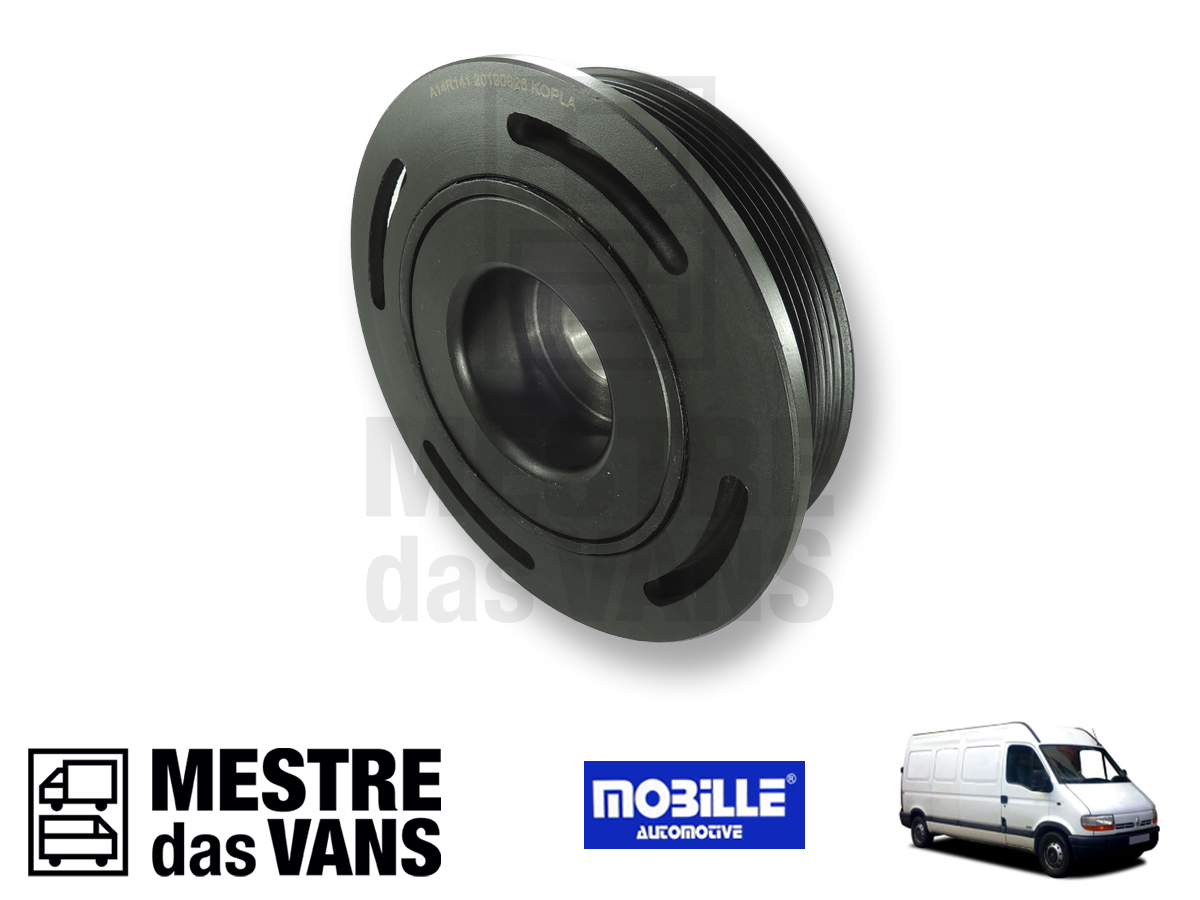 Polia do Virabrequim Renault Master 2.5 16V 6 vias