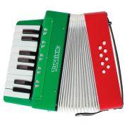 Acordeon Turbinho 104-RG 8 Baixos Vermelhor e Verde