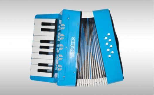 Acordeon Turbinho 104-LB 8 Baixos Azul Claro
