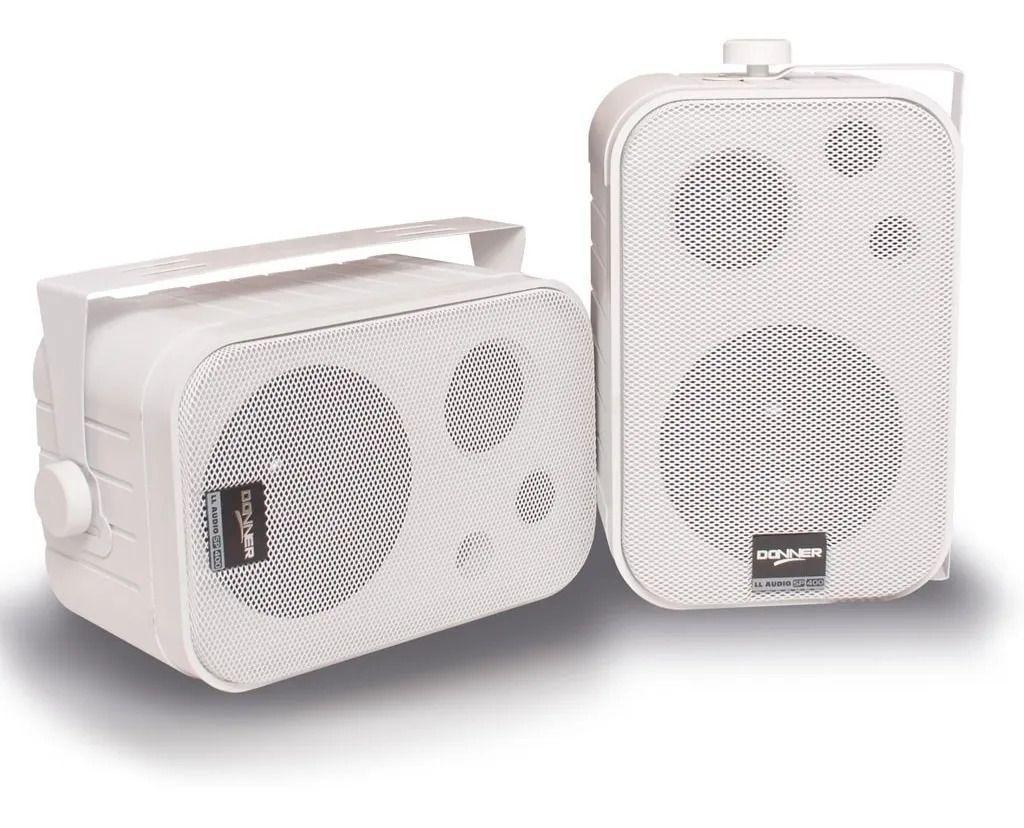 Caixa Ambiente Donner SP400 Branca (Par)