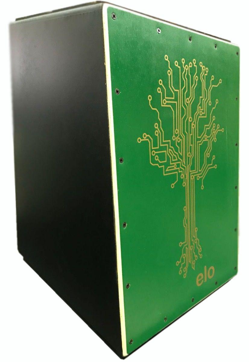 Cajon Percussion Elo+ EM 115 Árvore Verde - Acústico