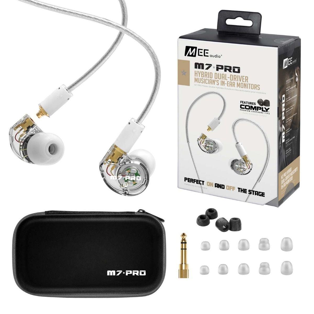 Fone de ouvido Mee Audio M7 PRO transparente (openbox)