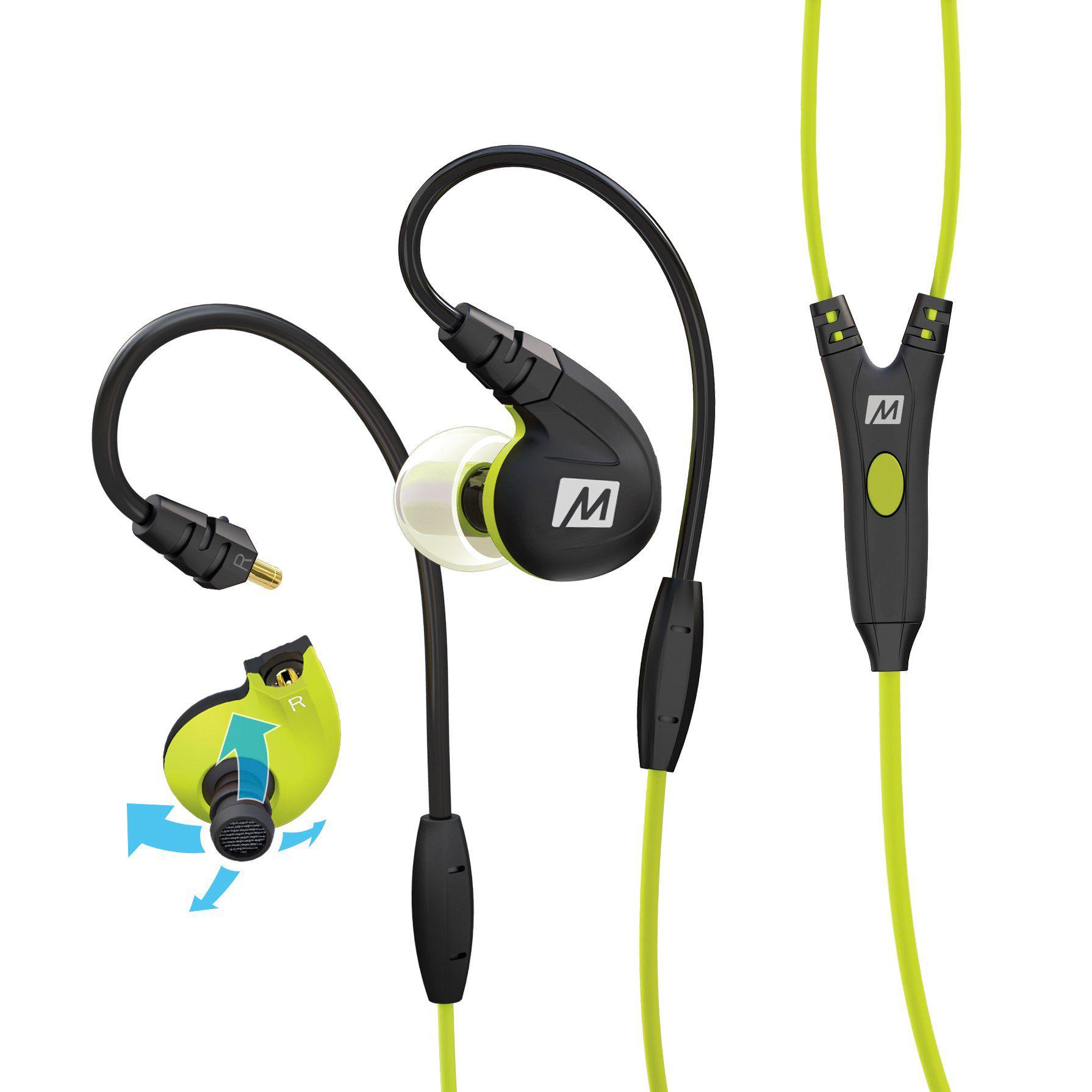 Fone de ouvido Mee Audio M7P Secure-Fit Sport Verde