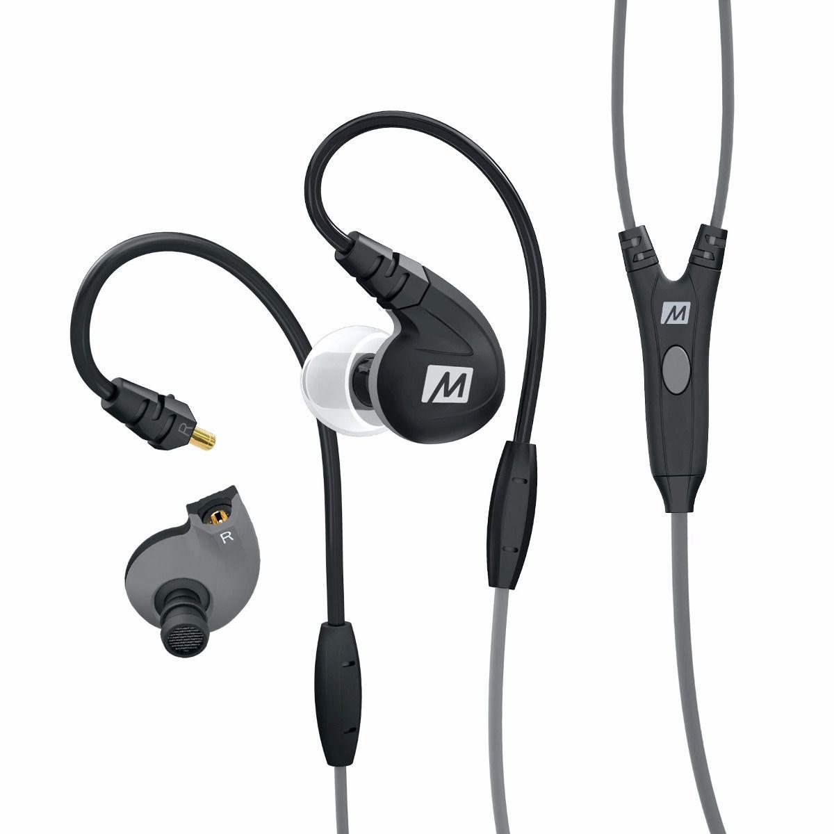 Fone de ouvido Mee Audio M7P Secure-Fit Sport Preto