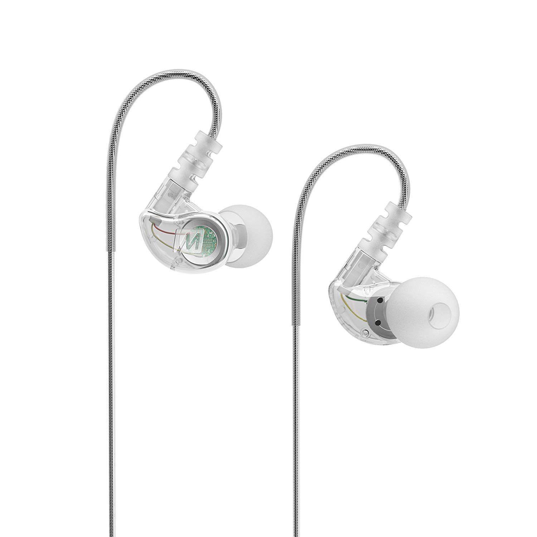 Fone de ouvido Mee Audio M6P Sport-Fi Transparente