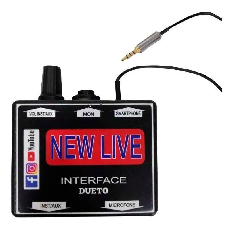 Interface de Áudio New Live Dueto Para Smartphones
