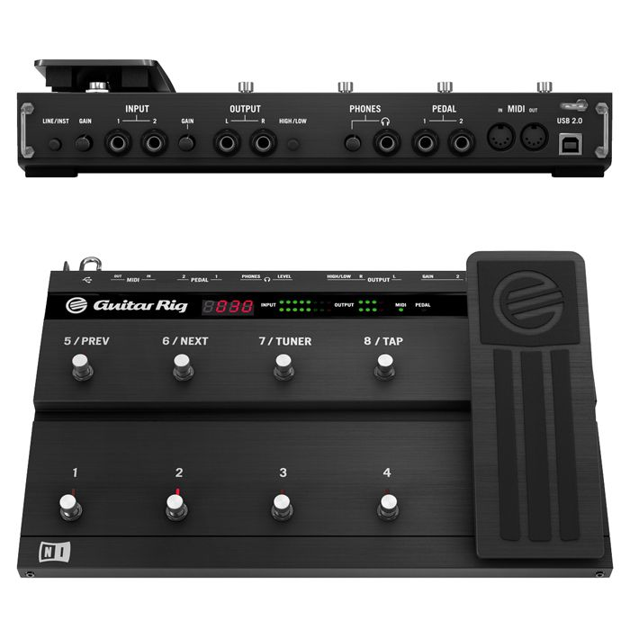 Interface e Pedaleira Guitar Rig 5 Kontrol