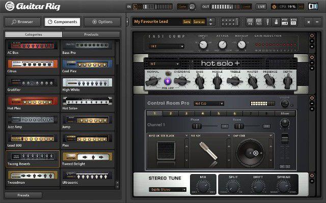 Interface e Pedaleira Guitar Rig 5 Kontrol
