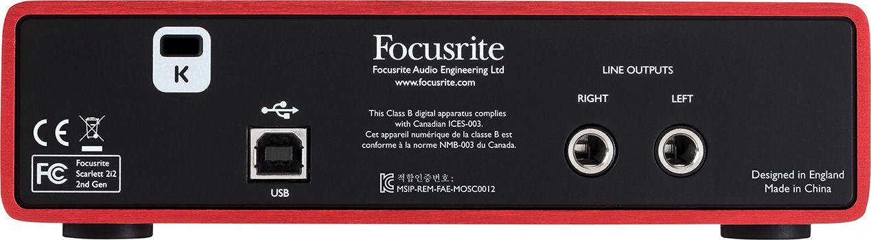 Interface Focusrite Scarlett 2i2 (2ª Geração)