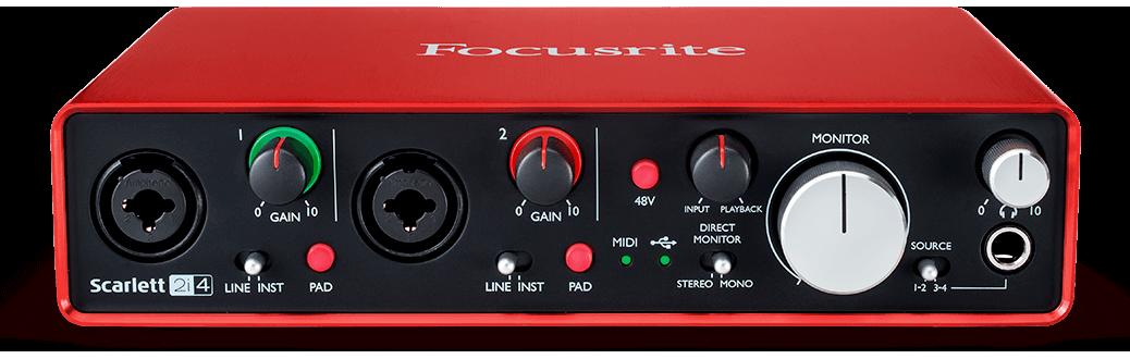 Interface Focusrite Scarlett 2i4 (2ª Geração)