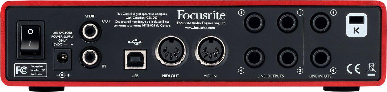 Interface Focusrite Scarlett 6i6 (2ª Geração)