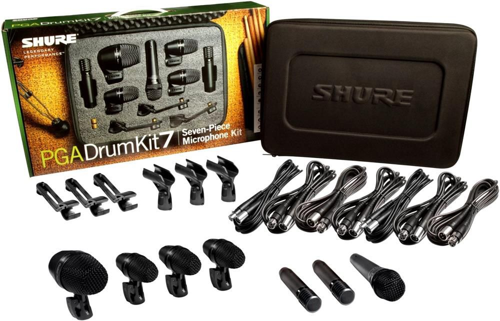 Kit Microfone Bateria Shure PGA Drum Kit 7