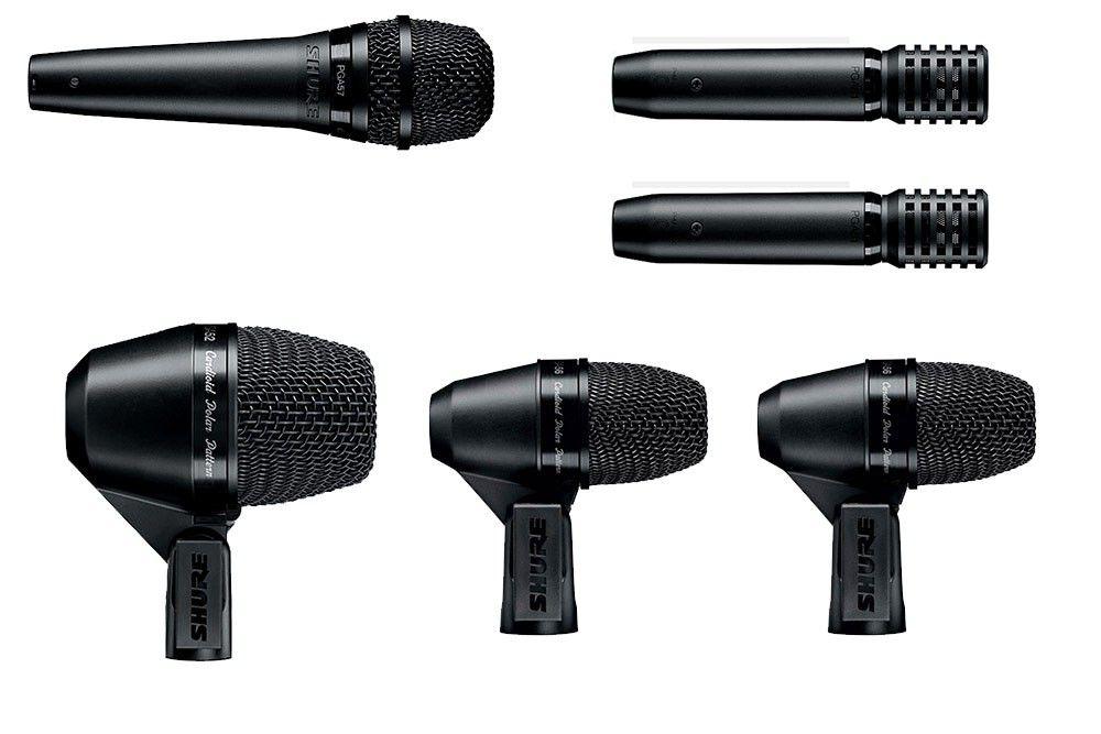 Kit Microfone Bateria Shure PGA Drum Kit 7