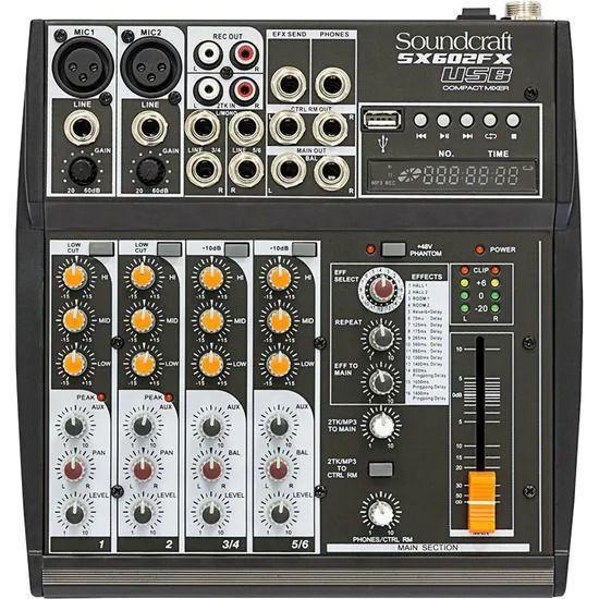 Mesa de Som Analógica Soundcraft SX602FX