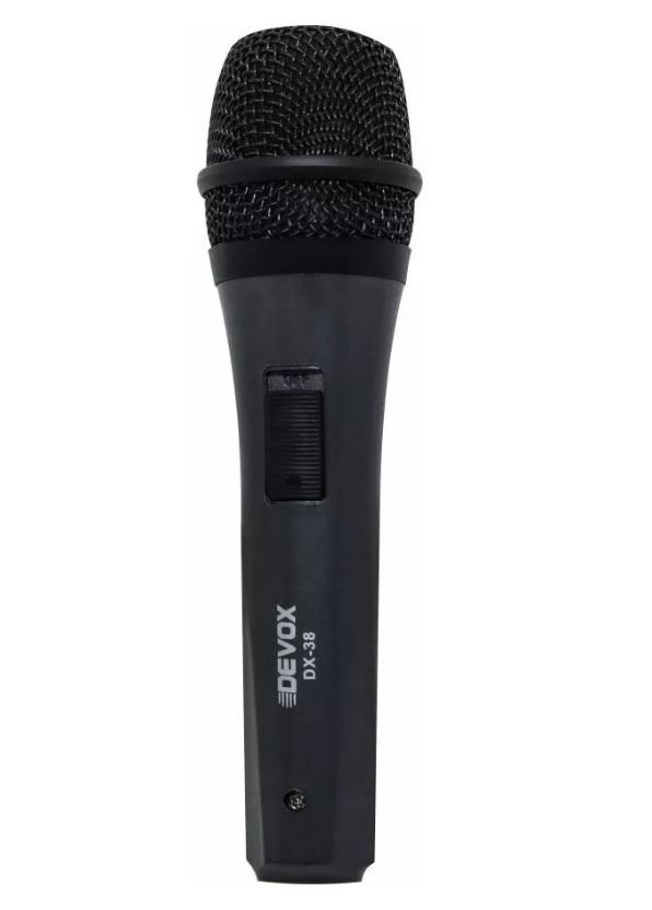 Microfone Com Fio Dinâmico Devox DX-38
