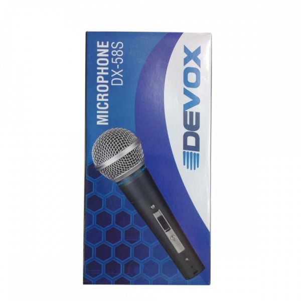Microfone Com Fio Dinâmico Devox DX-58S