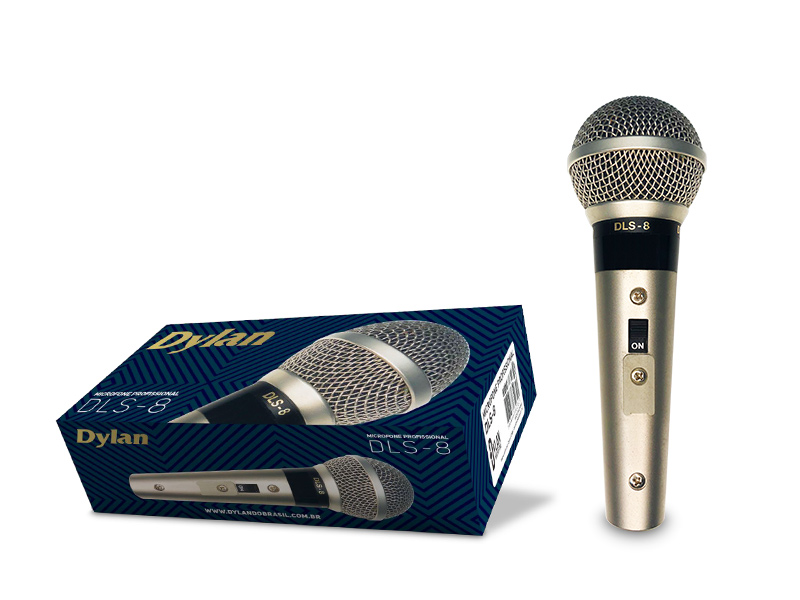 Microfone Dinâmico Com Fio Dylan DLS-8