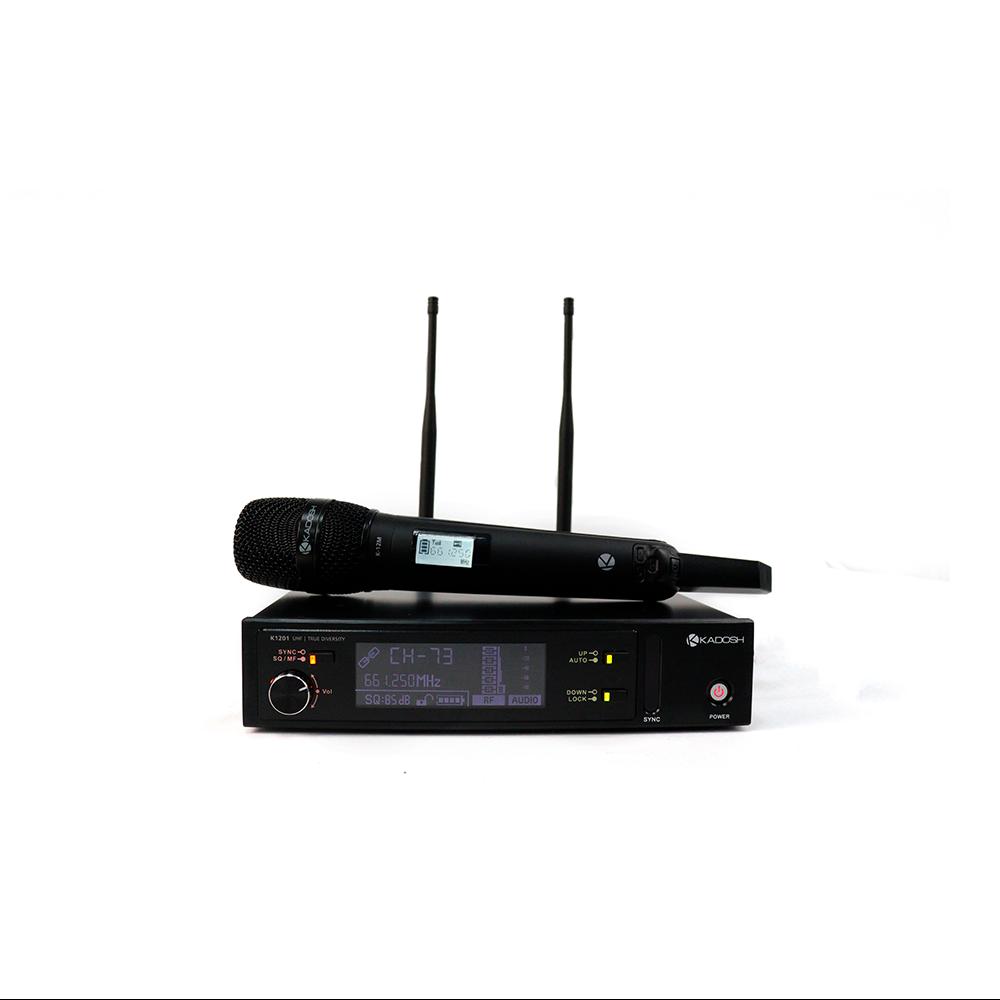 Microfone Profissional Sem Fio Kadosh K-1201M UHF