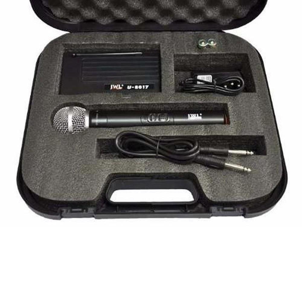 Microfone Sem Fio de Mão JWL U-8017M