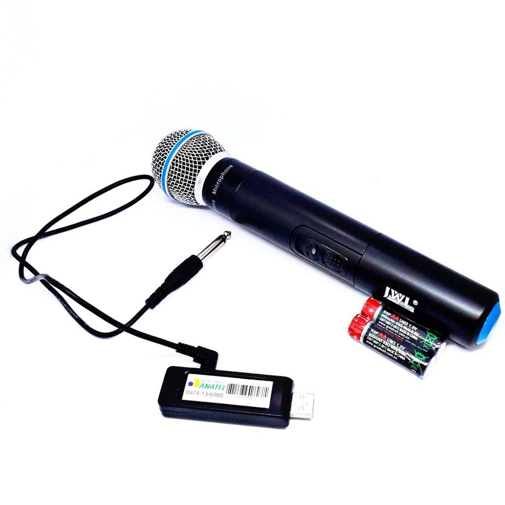 Microfone Sem Fio de Mão JWL U-8017X UHF