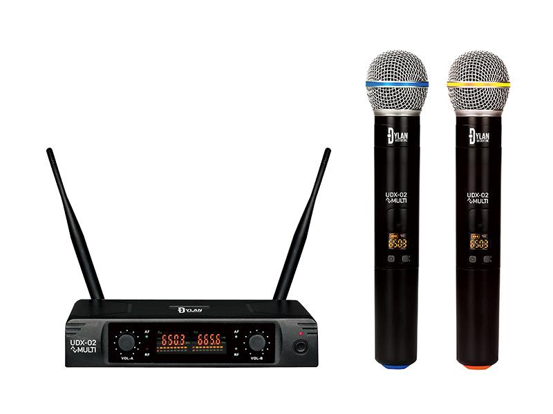 Microfone Sem Fio UHF Dylan UDX-02 30 Canais