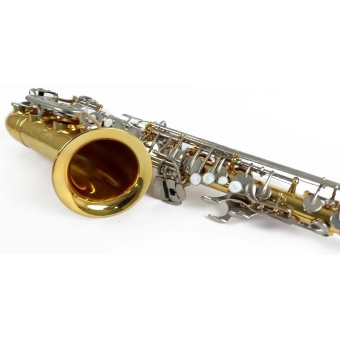 Saxofone Alto Schieffer SCHAS-002 Eb Laqueado Niquel