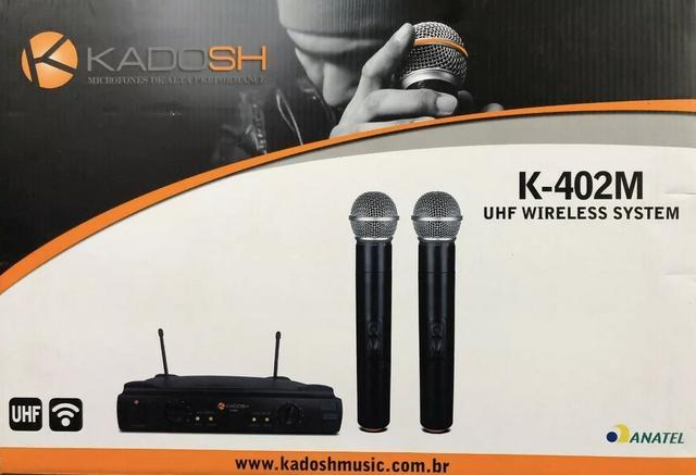 Sistema de Microfone sem fio Kadosh K-402M Duplo